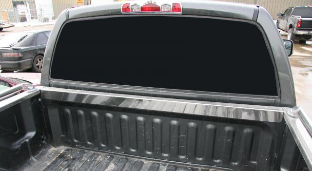 Stainless steel truck bed rail side caps putco skins stainless steel front bed cap sciox Gallery