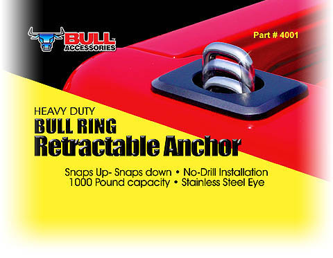 Bull Ring Retractable Tie Downs