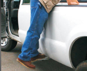 Flip Out Side Truck Bed Step