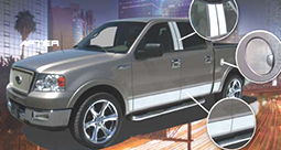 Chrome Truck Accessories - After installing U-Cut Chrome Truck Accessories - Cut to fit chrome Truck Rocker Panel Accessories, also a Chrome Gas Flap accessories cover.