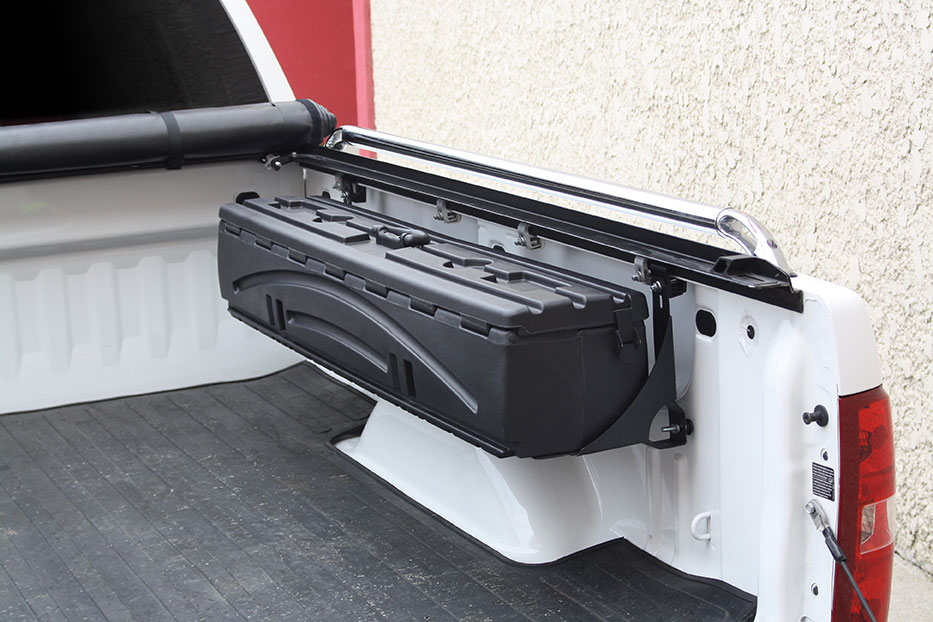 Duha humpster truck wheel well tool box - Truck bed storage ideas ...