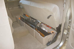 Truck Under Seat Storage. Truck Under Back Seat Storage for Chevy, Dodge, Ford, Nissan, Toyota
