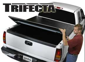 Extang Trifecta tonneau covers install in minutes and come with a lifetime manufacturer's warranty.