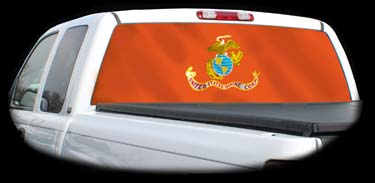 Rear Window Graphics And Decals For Trucks Or Cars