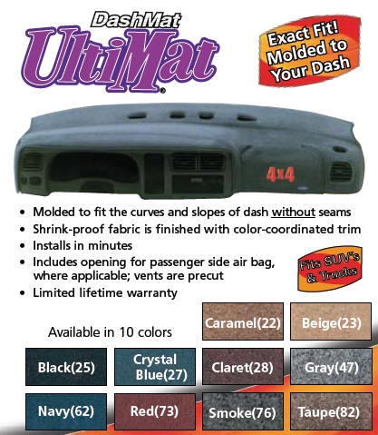 UltiMat dashboard covers by Dash Mat are custom made for each vehicle and  will beautify and protect your dash ...