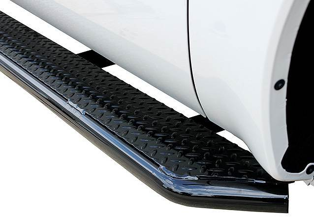 Diamond Tread Black Truck Side Steps Running Boards