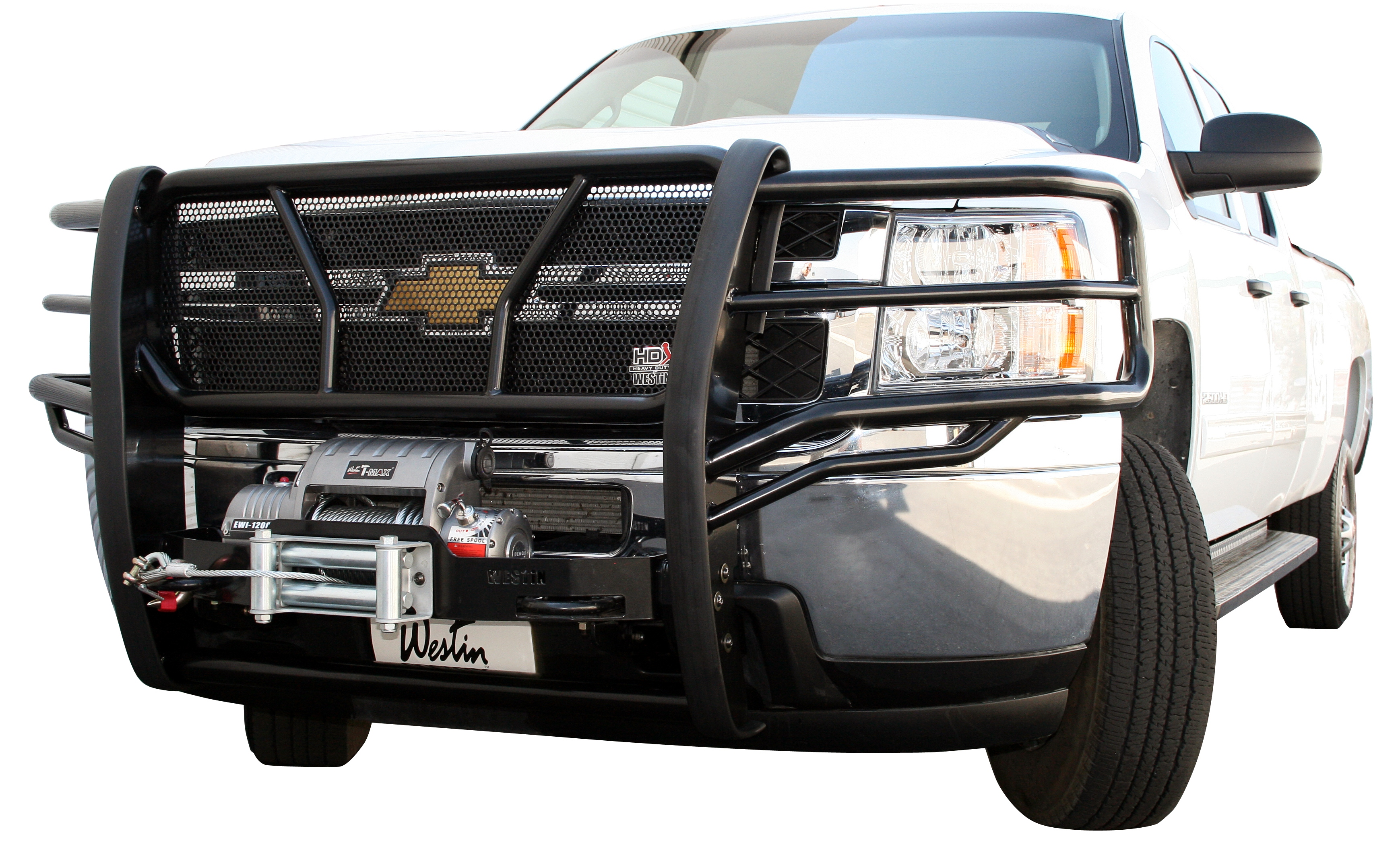 Truck Grill Guards And Bumpers : Westin hdx winch mount grille guards heavy duty truck