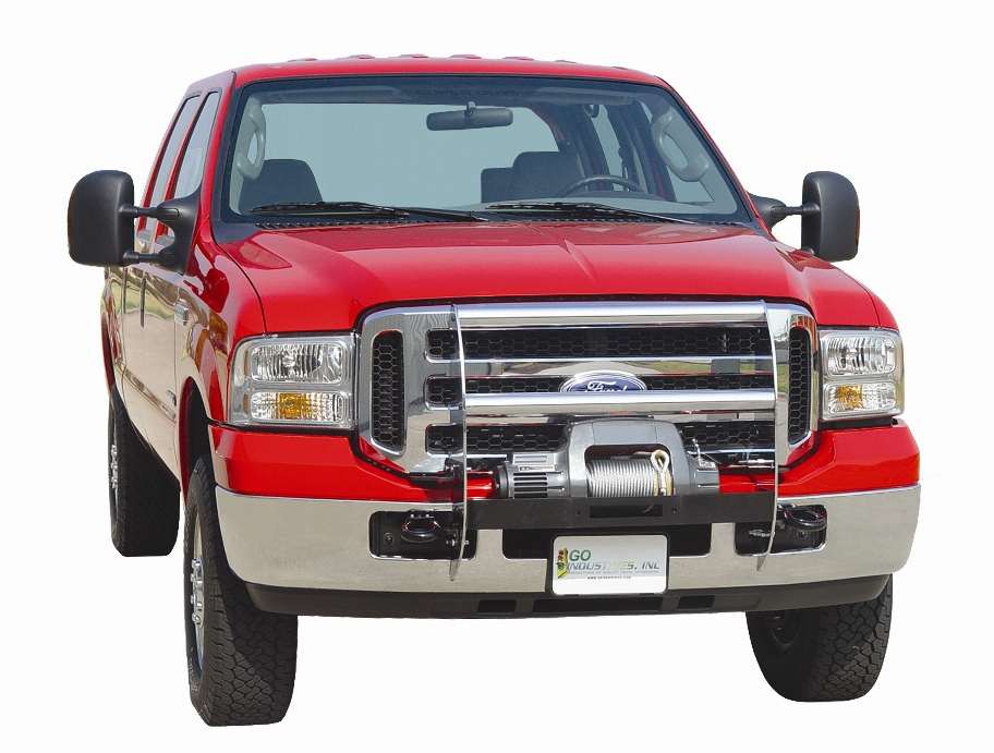 Pickup Brush Guard : Winch style grill guard by go industries