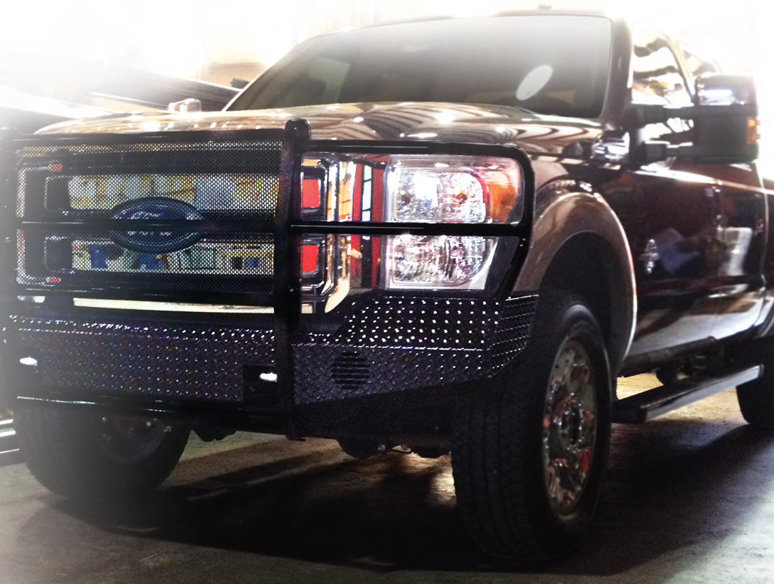 Truck Grill Guards And Bumpers : Full front bumper replacement with grille guard rock