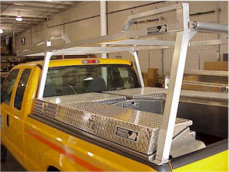 Ladder rack with side mount and crossbox