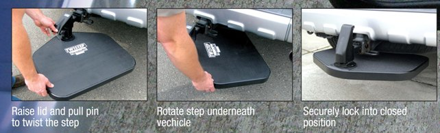 Universal Retractable Truck Steps By Twistep
