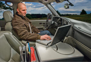 The Roadmaster Truck Desk Offers Laptop Positioning Similar To A Floor Mounted Computer Stand Without Installation And Permanent Mount