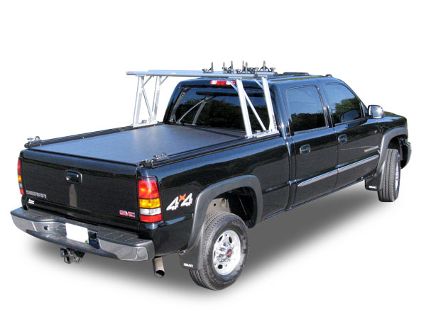 Silverado  Bed Roll Up Cover With Ladder Racks