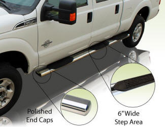 "6"" wheel to wheel truck steps"