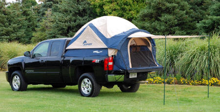 Truck Tent Iii With Rain Fly And Awning Small on 2005 Dodge Dakota Cap