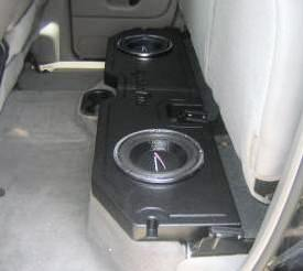 Under the seat truck subwoofer boxes