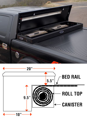 American Work Cover Roll Cover With Tool Box By Truck