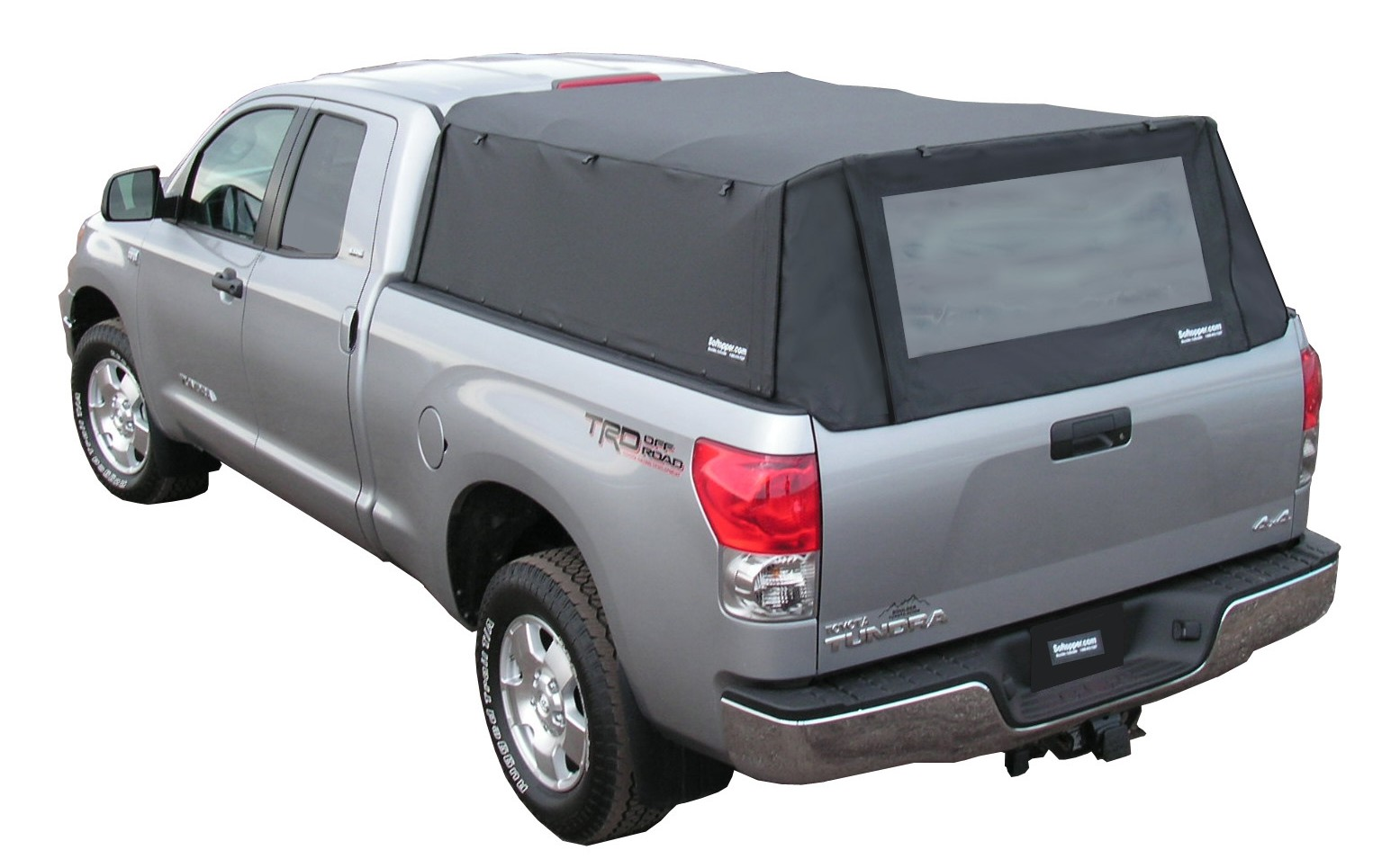 Toyota Tacoma Cargo Net Softopper Collapsible Truck Cover | Soft Top Canvas Truck Camper Shell ...