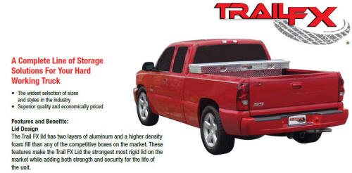 Trailfx complete pickup bed storage solution
