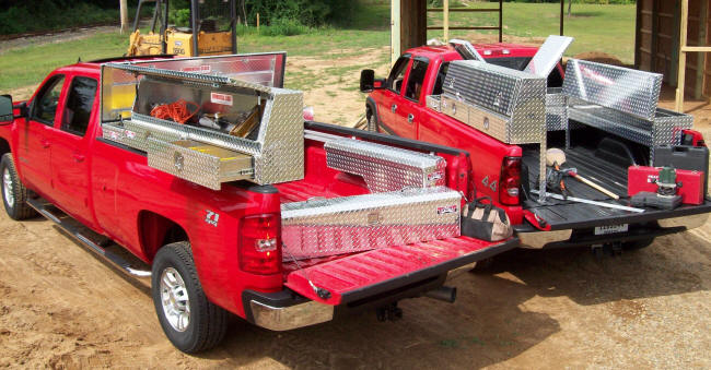brute commercial class truck tool boxes and cargo management equipment for contractors