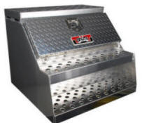 high capacity truck top sider semi chassis step box - Tool Box For Trucks