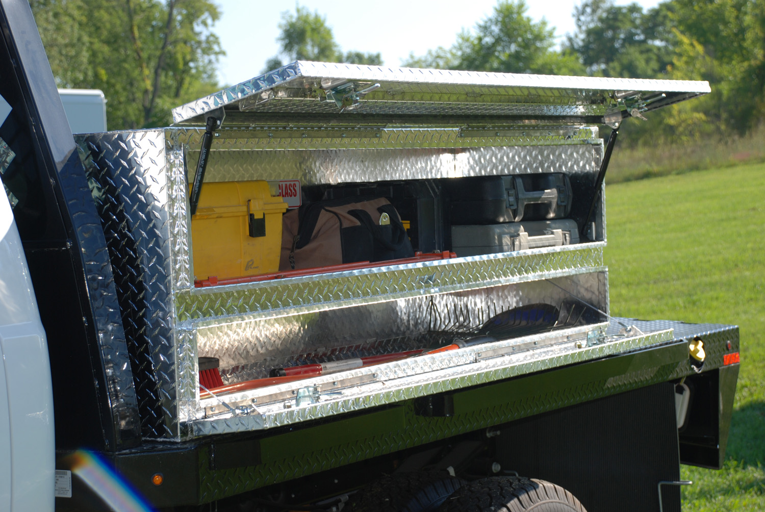 Flat Bed Tool Box Stake Bed High Capacity Tool Boxes