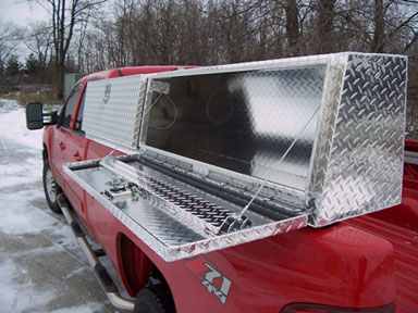 Angled Slanted Top Side Truck Tool Boxes