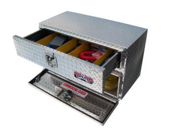 brute contractor underbody truck tool boxes with top drawer